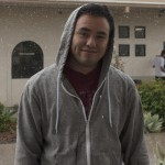 "Francisco Maza, 21, ASL Interpreting Major at Pierce College, Calif. says ""The hail seems to get bigger every time it falls, but it is what it is""  on Oct. 11, 2012."