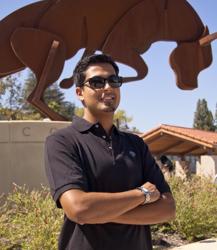 Gabriel Mellibosky, president of the Associated Students Organization (ASO), on September 26, 2011 at Woodland Hills, Calif. Photo: Yenifer Velasquez