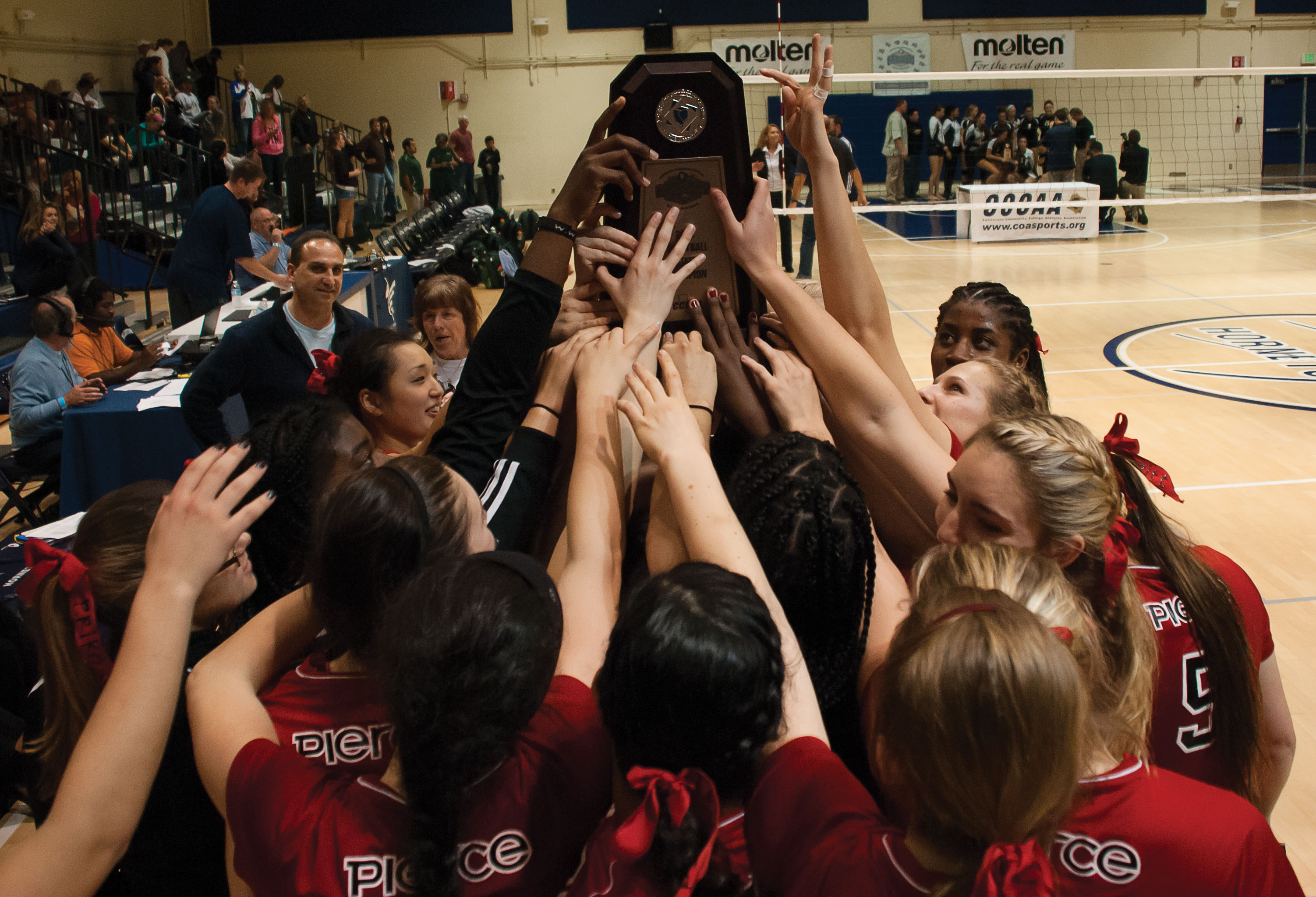 Volleyball wins third championship in a row