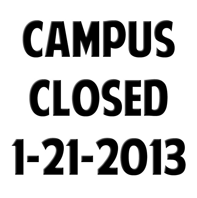 Campus Closed for MLK Day
