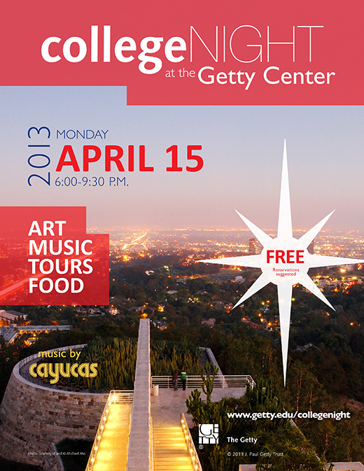 Getty Center invites LA's colleges to a night for students