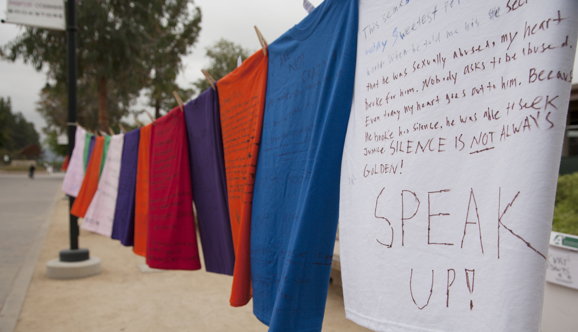 Campus commemorates Denim Day with annual Clothesline Project