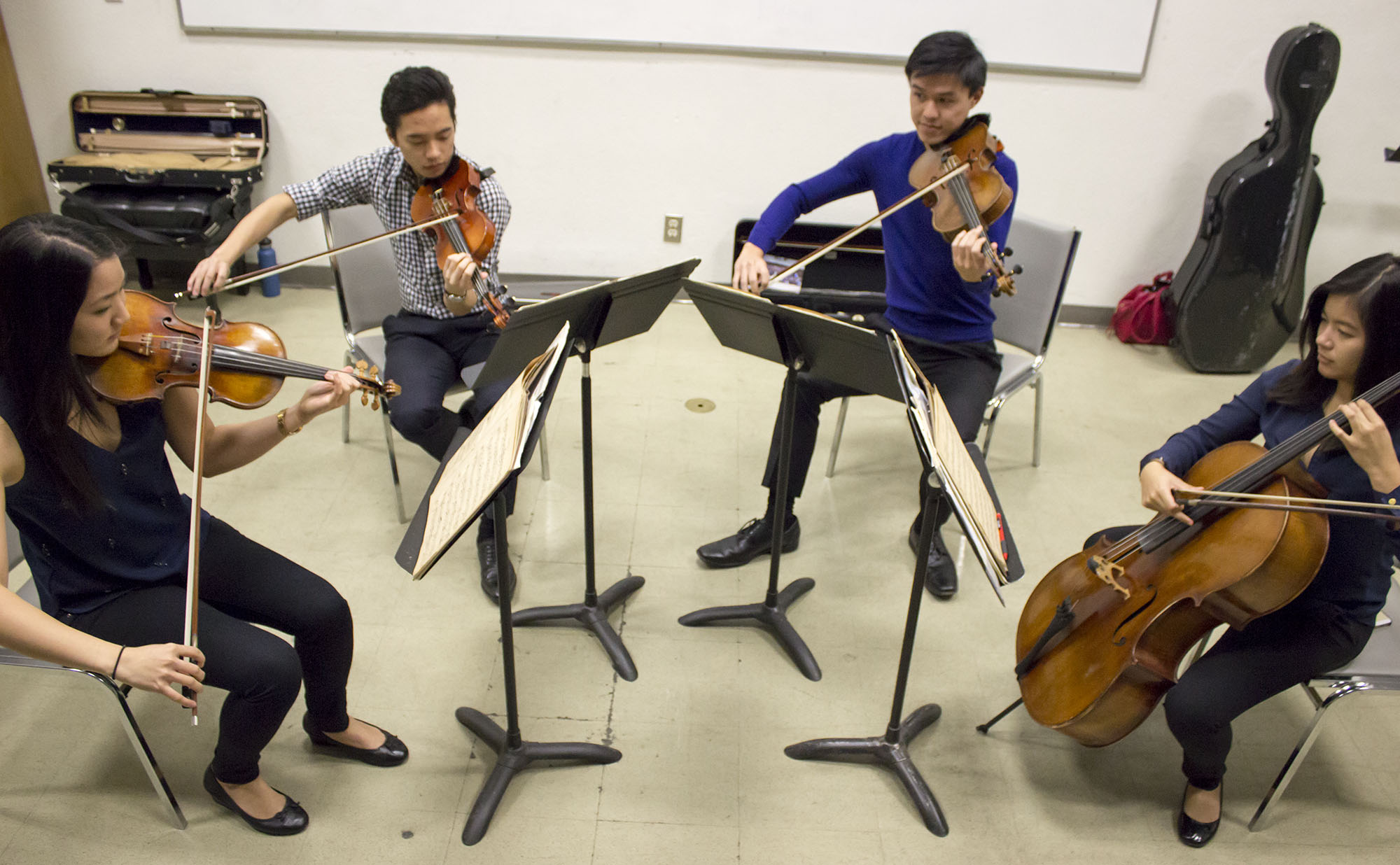 UCLA's Gluck String Quartet performs at Pierce College