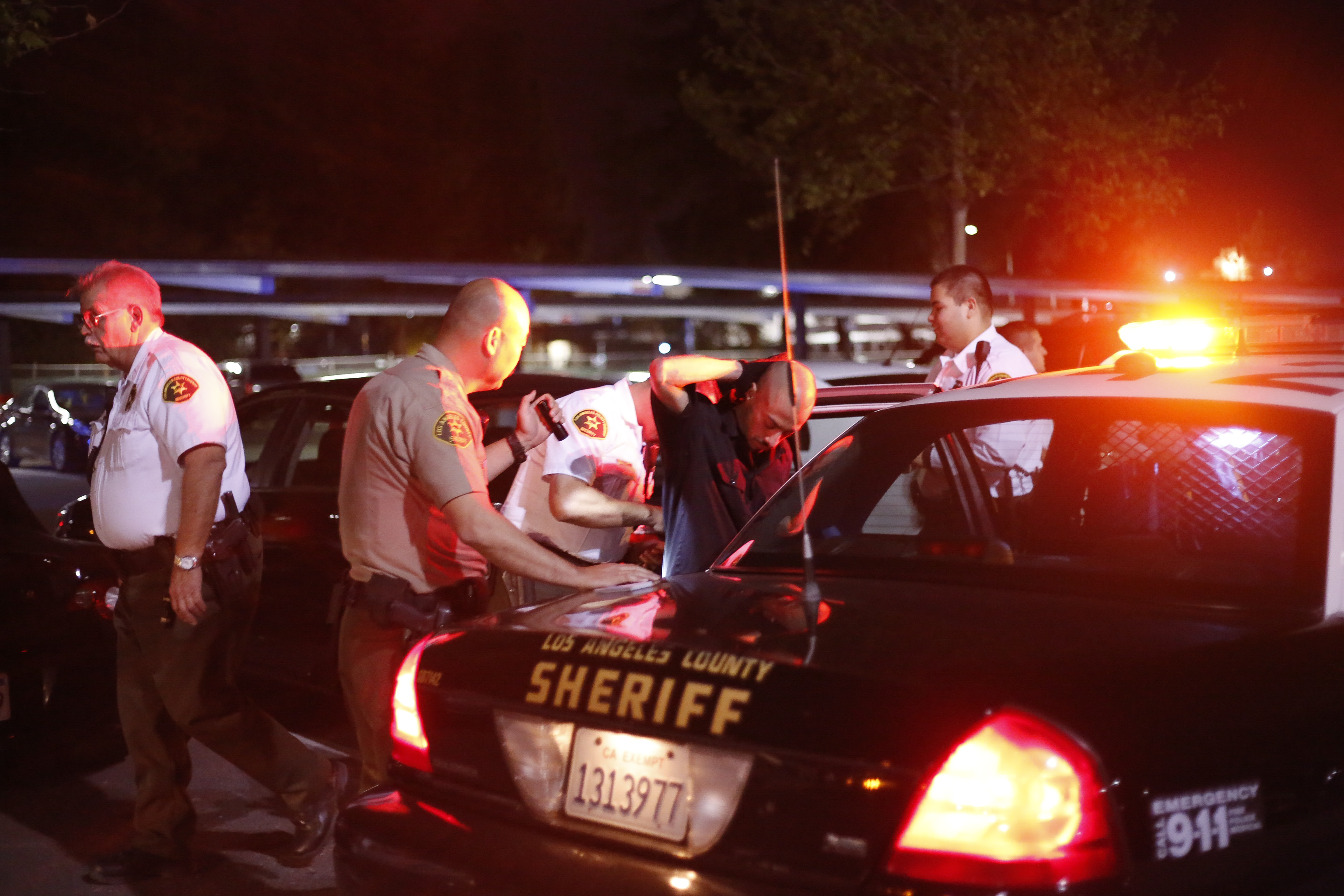 Man detained in Parking Lot 1
