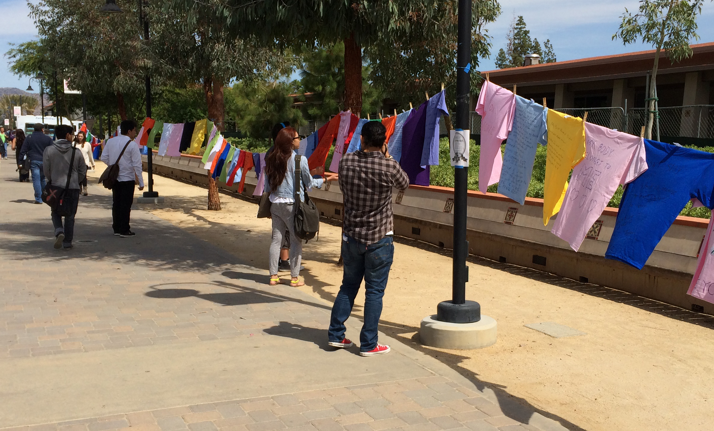 Campus Violence Response Team takes over mall with Clothesline Project