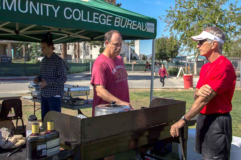 LA Sheriff's Department cooks barbecue to raise funds for annual relay race