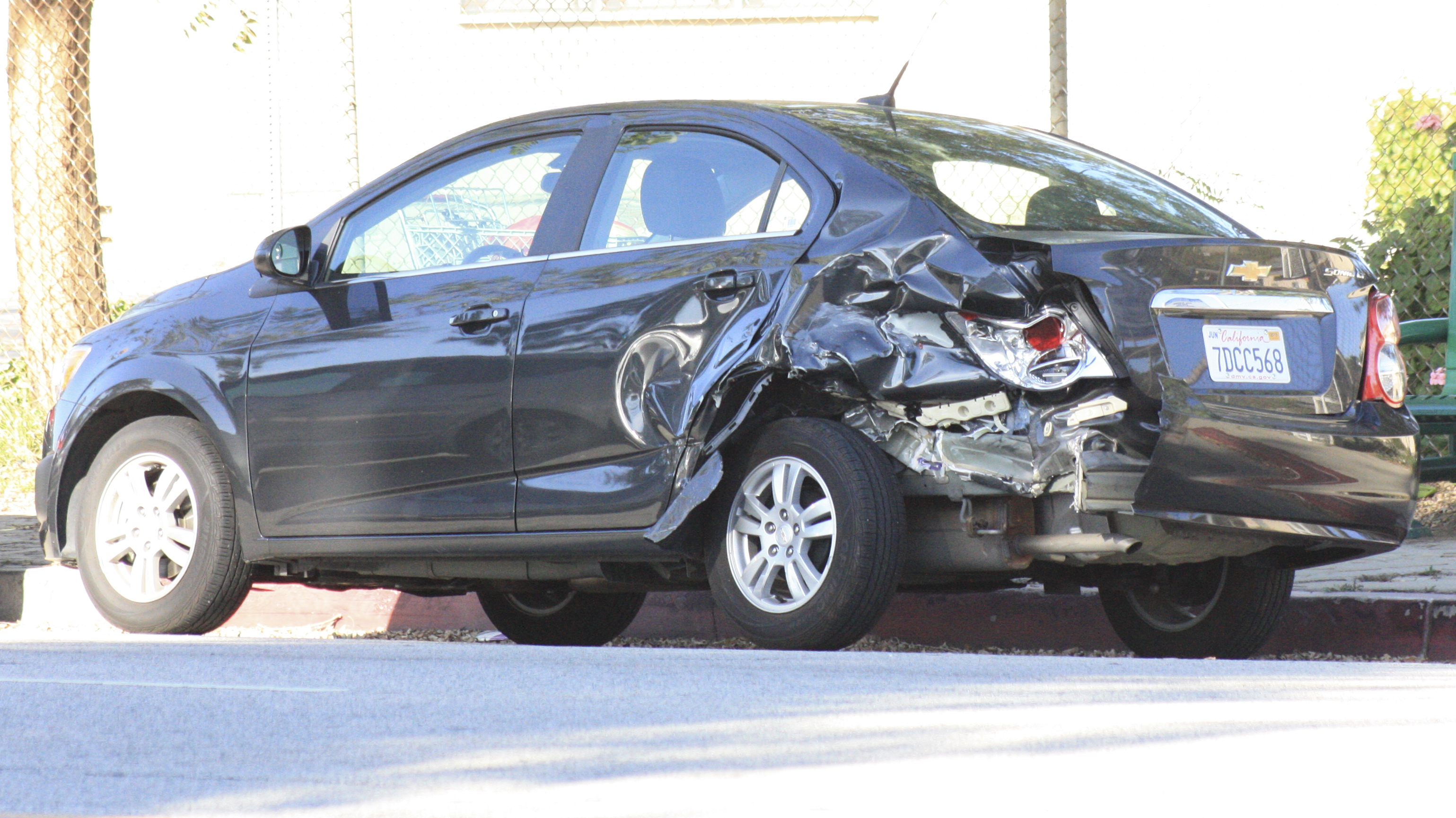 Accident at Pierce's Winnetka entrance