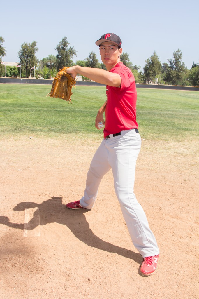 Pierson Ro is a Pierce College baseball pitcher in Woodland Hills, Calif., on Monday, April 20, 2015. Photo By: Alan Castro