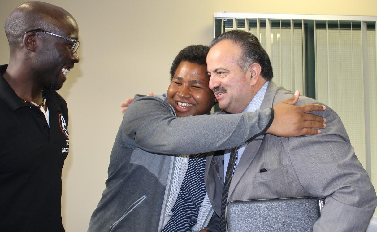 District chancellor meets with Pierce Foundation