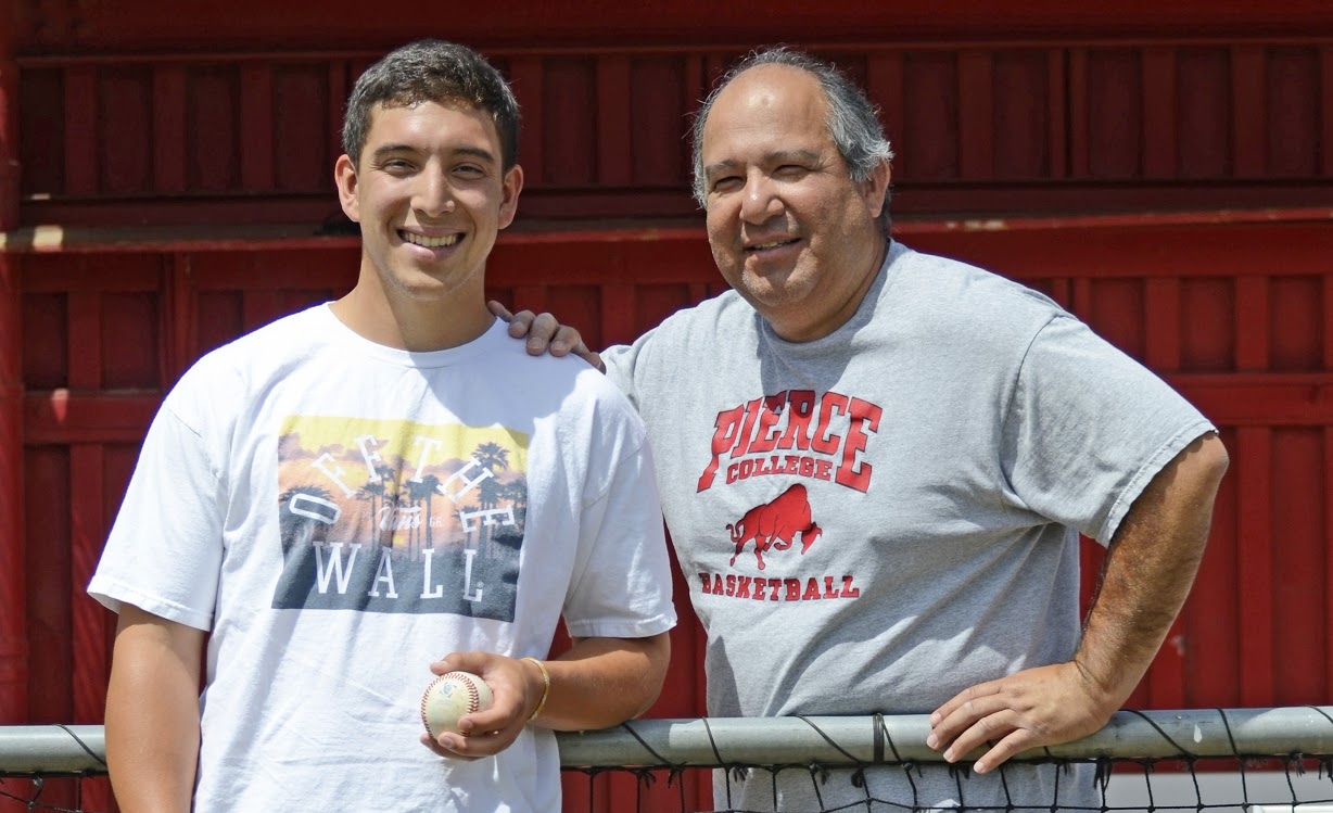 Father and son bonded by baseball