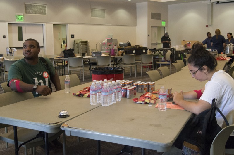 Red Cross blood drive in the Great Hall