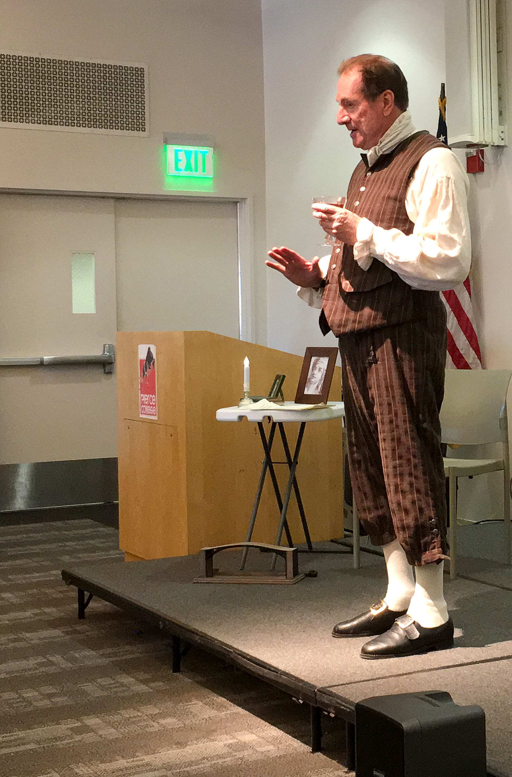Founding Father visits Pierce