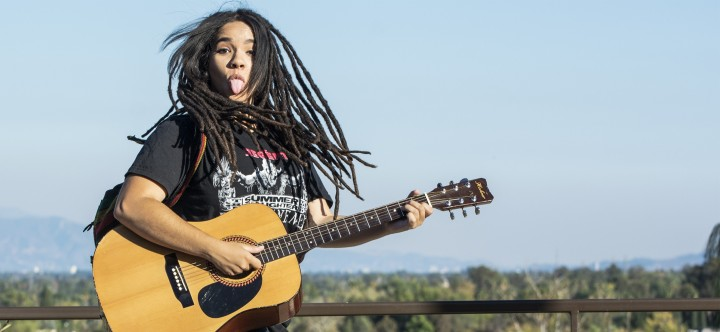 'The girl with the dreadlocks'