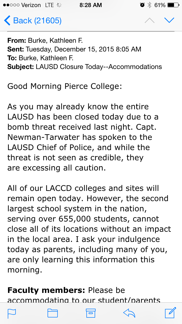 Pierce College remains open despite surrounding school closures