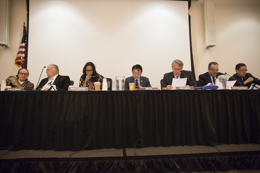 The Board of Trustees held their meeting at The Great Hall at Pierce College on Wednesday, Feb. 10, 2016. Woodland Hills Calif. Photo: Taylor Arthur