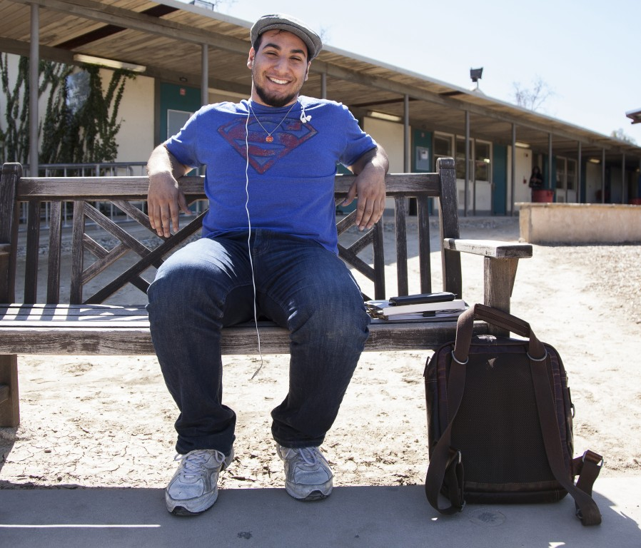 """17-year-old Alex Arzoo, a biology major, sits on a bench in the Botanical Garden of Pierce College in Woodland Hills, Calif. on Wednesday, Feb. 24, 2016. Arzoo's parents went to UCLA. """"My parents never pressured me into going to UCLA even though my mom hates the Trojans,"""" Arzoo said. """"UCLA gives me the feeling of being in a community. It feels like it's own little city in the middle of Los Angeles. It has its own supermarkets, it has its own dormitories, everything exists within it. I love the idea of entering its own little bubble of society for my college career"""" Photo: Mohammad Djauhari"""