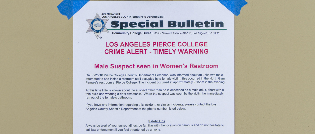 Man escorted off campus after incident in South Gym women's restroom