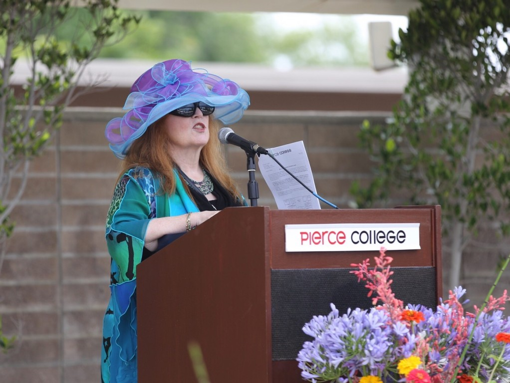 President Kathleen Burke speaks during the Student Awards Banquet at the Music Lawn on Tuesday, June 7, 2016. Photo: Travis Wesley