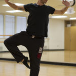 Brian Moe dances in the  studio at Pierce College after his Modern Dance class ended on Nov. 14, 2015 in Woodland Hills, Calif. Photo by Taylor Arthur