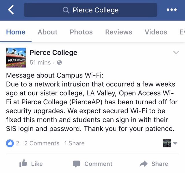 Campus Wi-fi turned off for security updates