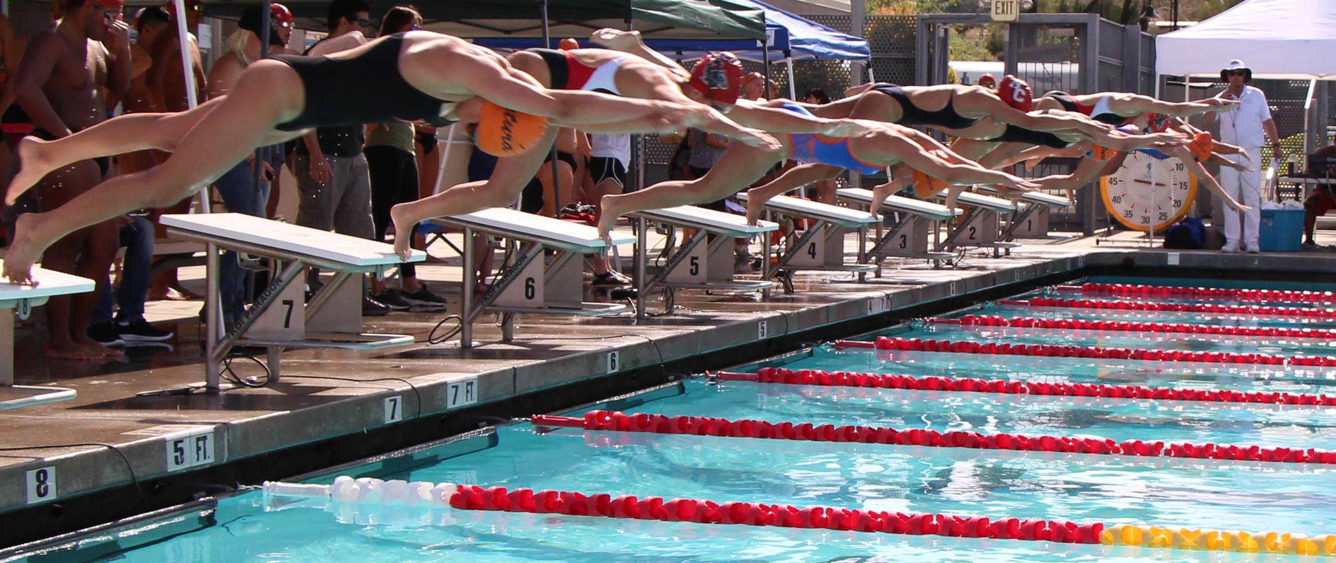Making a splash toward the finish line