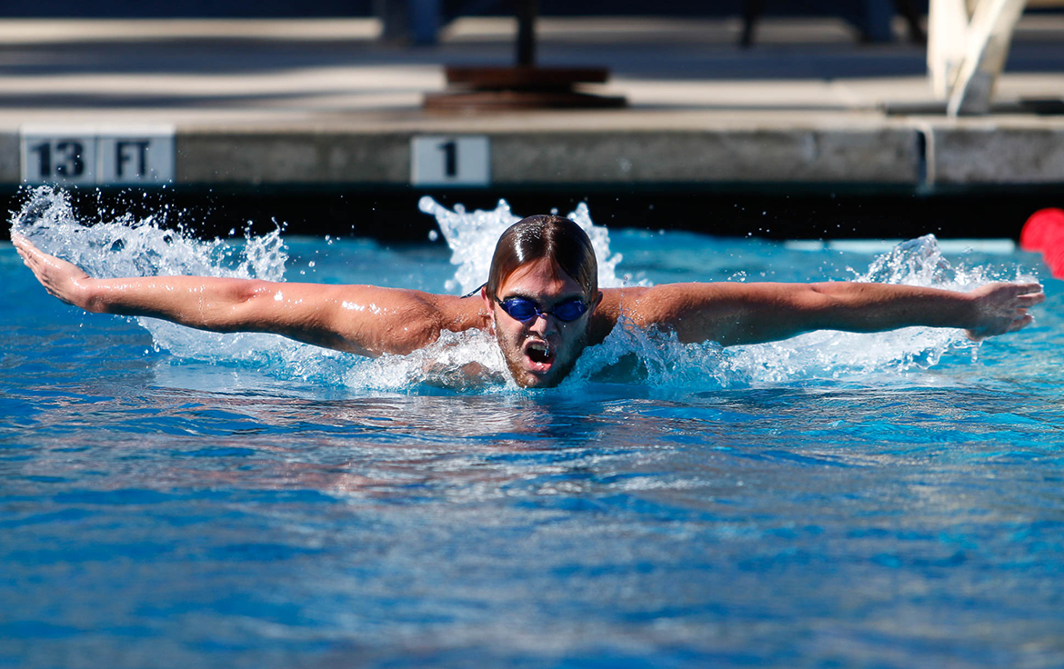 Going for gold in the 100-meter fly