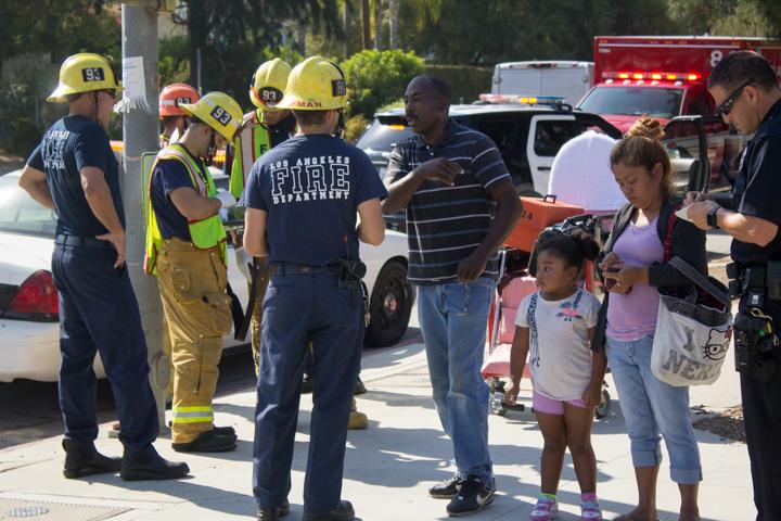 Student-involved accident on Winnetka Ave