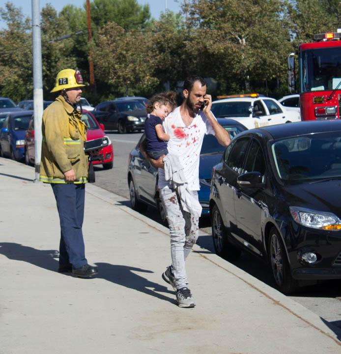 Three vehicle accident on Victory Blvd.