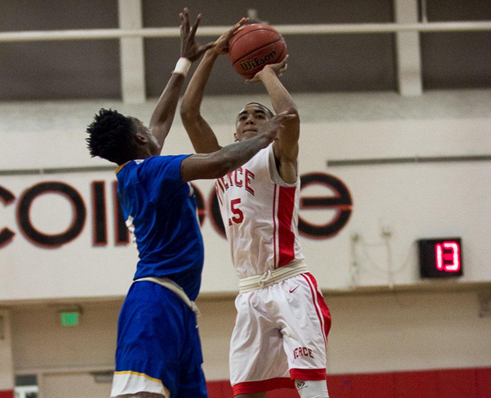 Men's basketball loses in high temper game