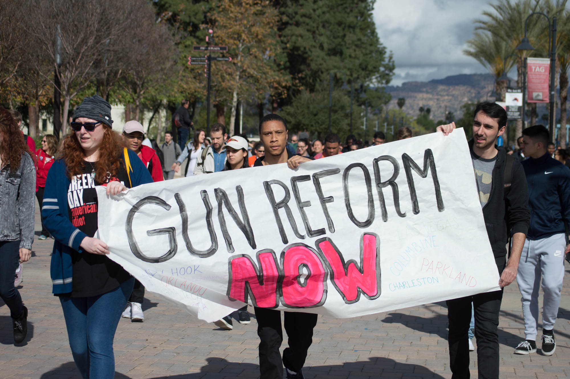 National protest spurs local student action