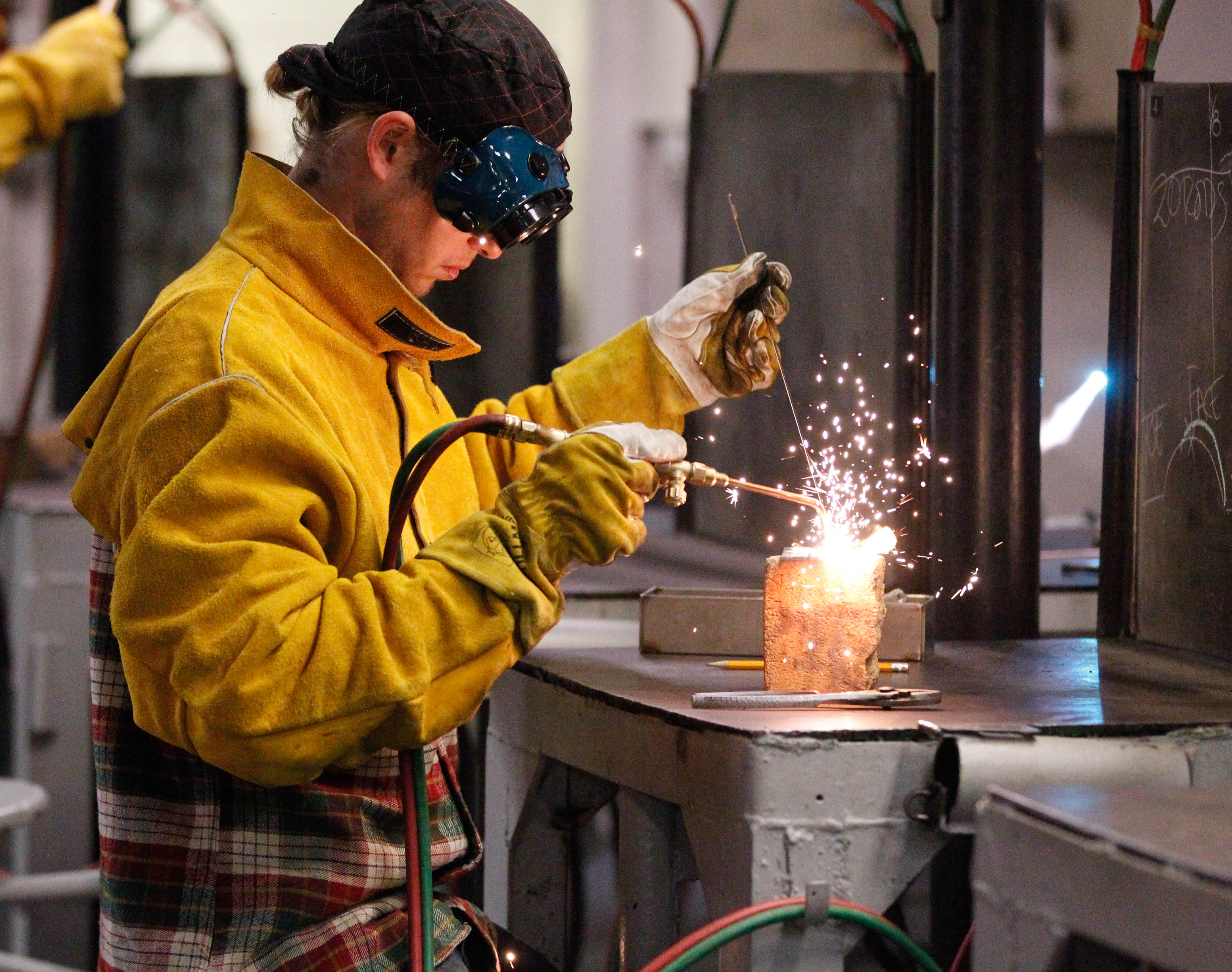 Light a flame, weld some metal