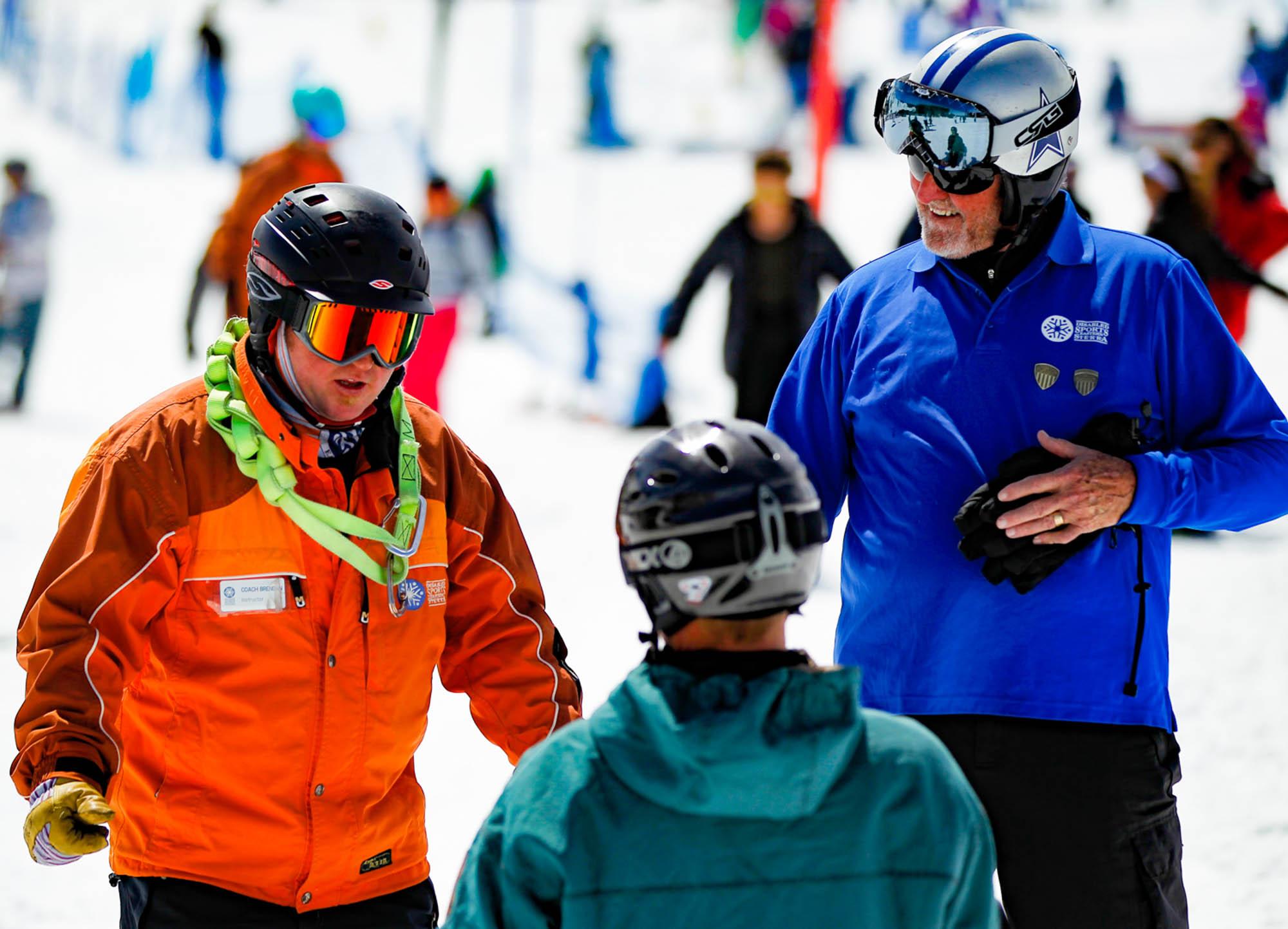 Skiing in a winter wonderland
