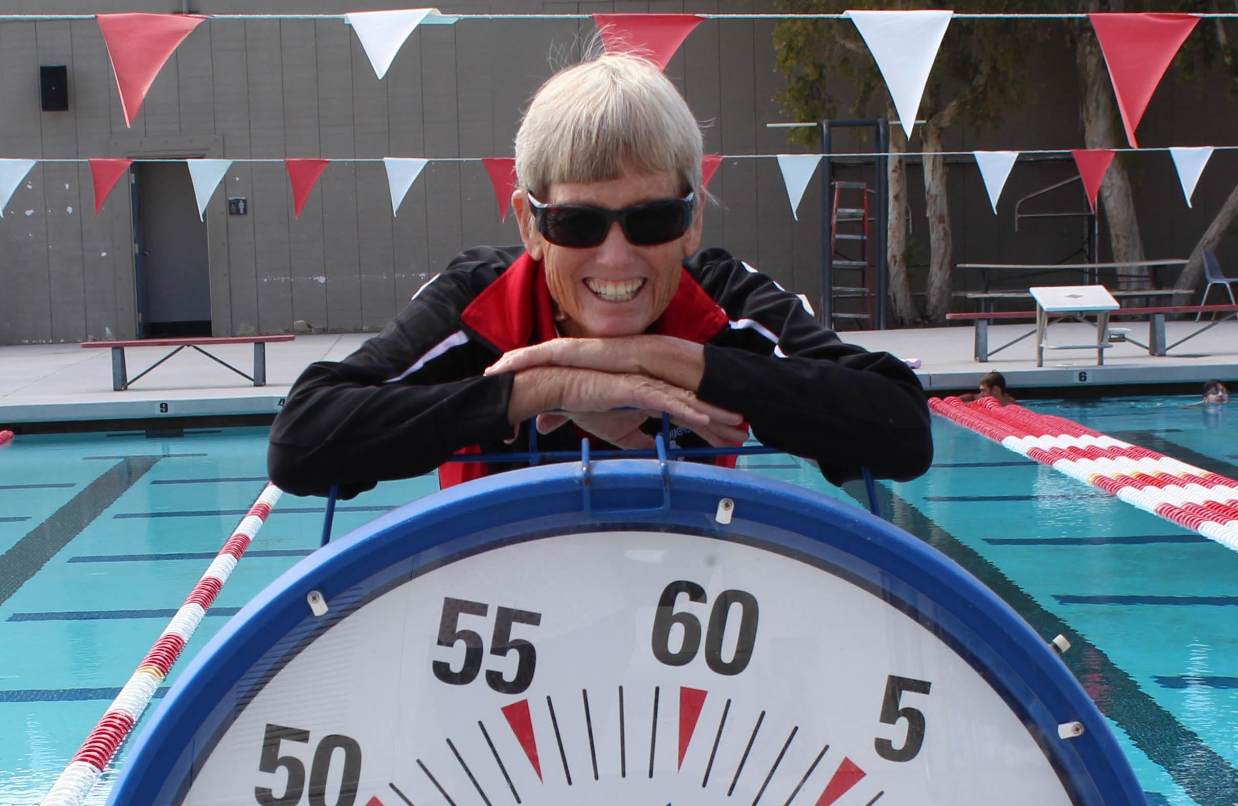 Swim coach makes a splash
