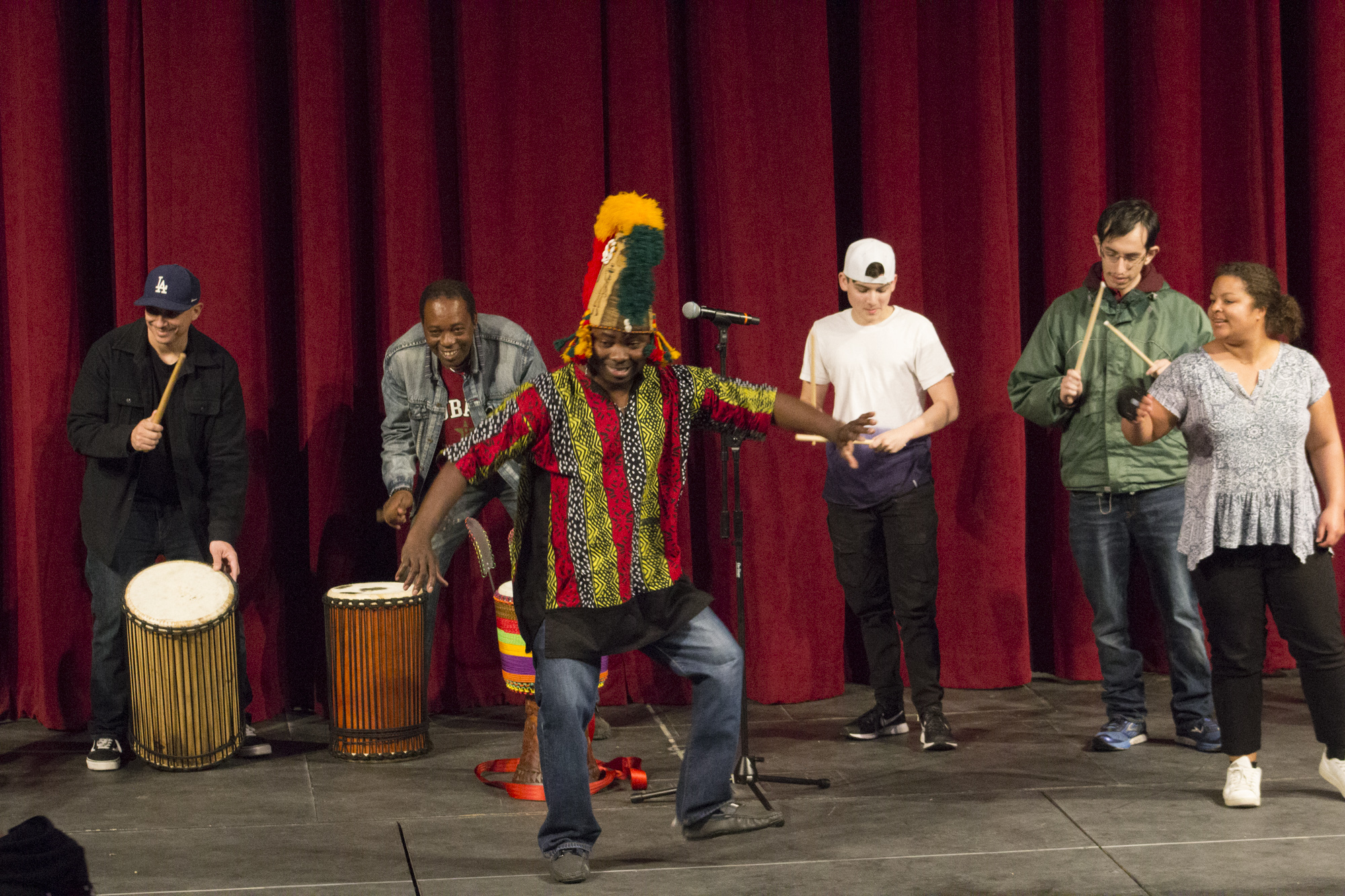 Student body moves to the African beat