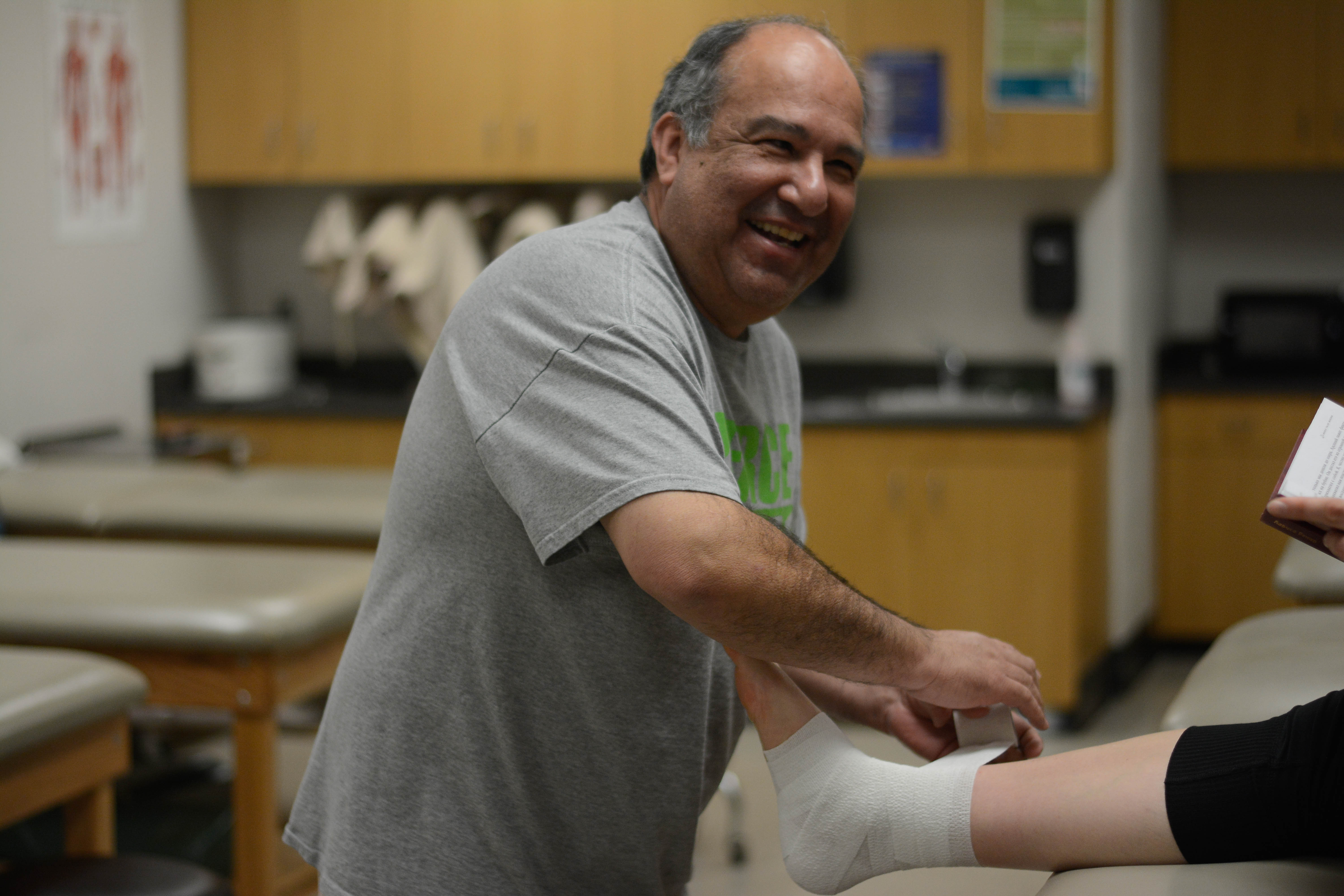 Healing hands mend wounded athletes