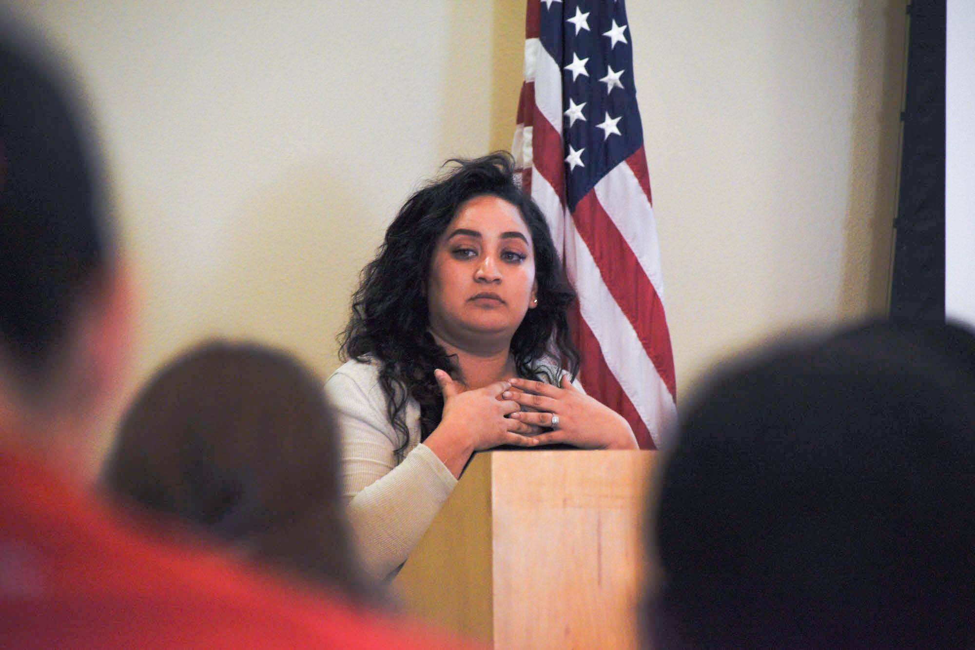 Speaking on bullying awareness