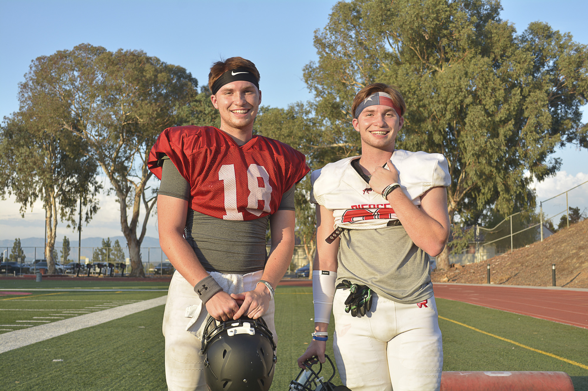 Seeing double on the football field
